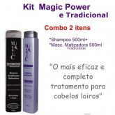 Kit Magic Color Tradicional + Shampoo Matizador Power 500ml